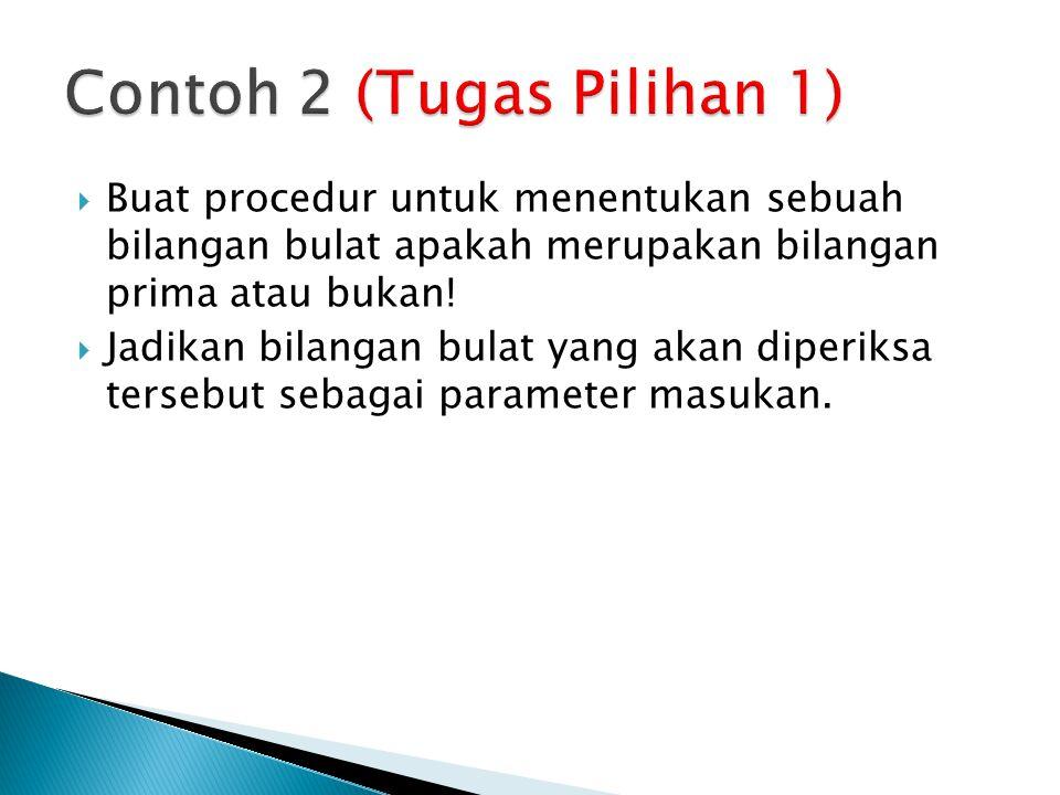 Contoh 2 (Tugas Pilihan 1)