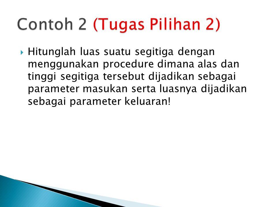 Contoh 2 (Tugas Pilihan 2)
