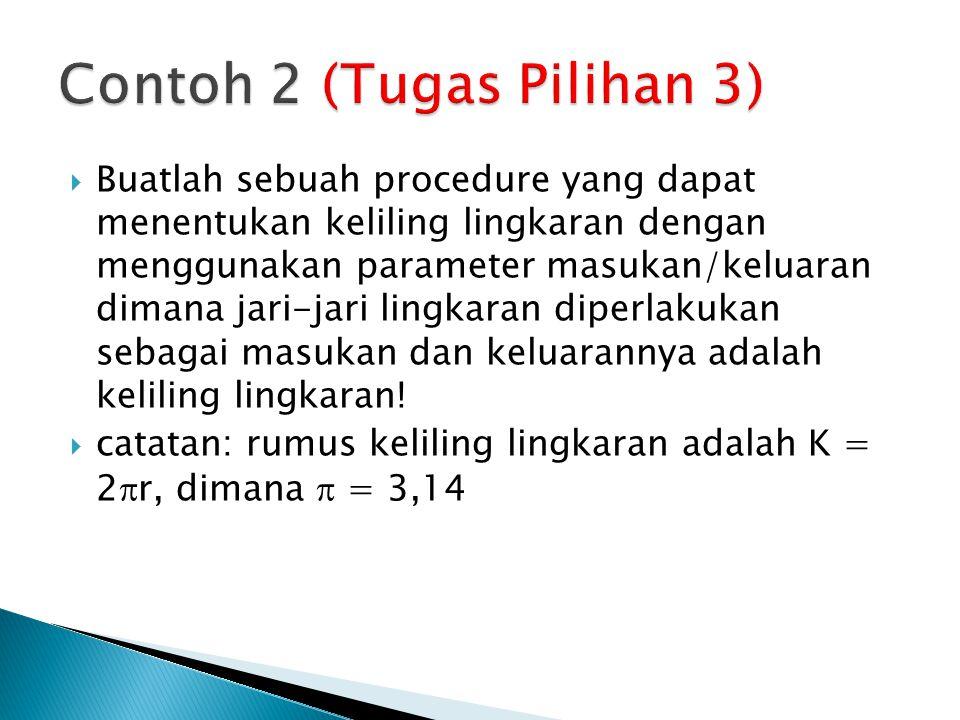 Contoh 2 (Tugas Pilihan 3)