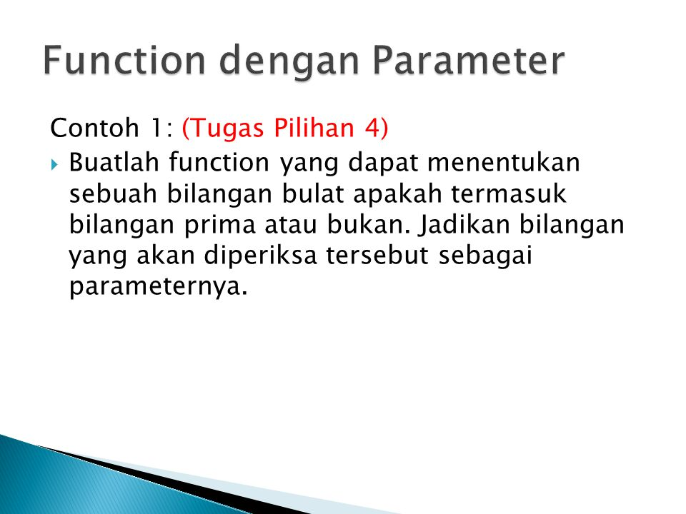 Function dengan Parameter
