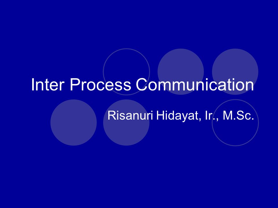 inter process communication Interprocess communication (ipc) - in this chapter you will learn about the various working capabilities of ipc (inter process communication) within an operating system along with usage.