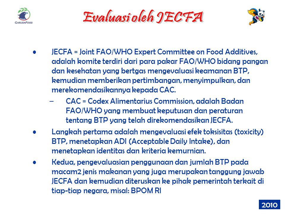 Evaluasi oleh JECFA