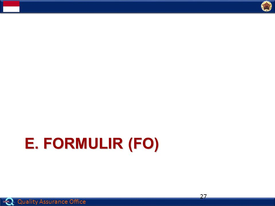 E. Formulir (fo)