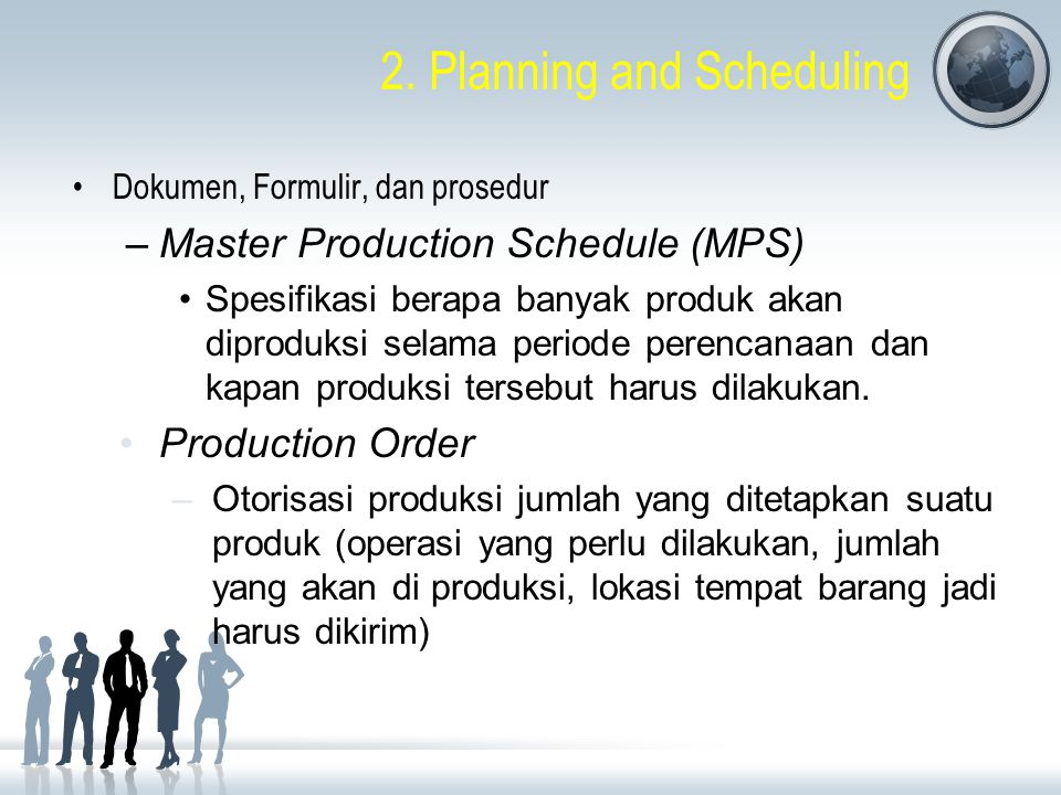 2. Planning and Scheduling