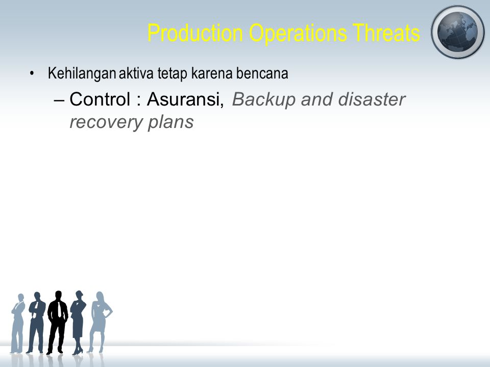 Production Operations Threats