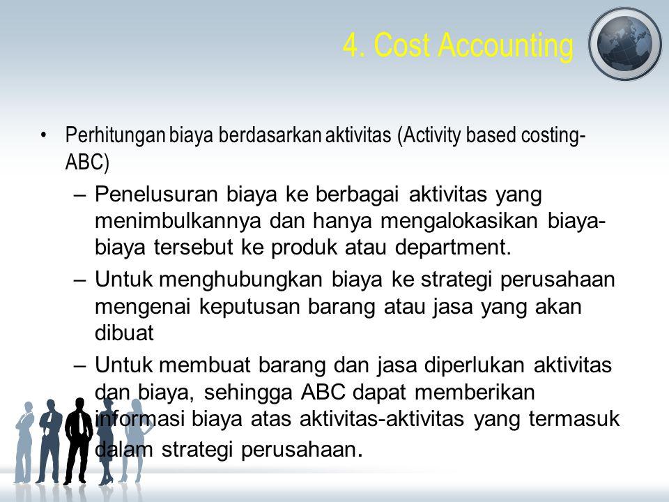 4. Cost Accounting Perhitungan biaya berdasarkan aktivitas (Activity based costing- ABC)