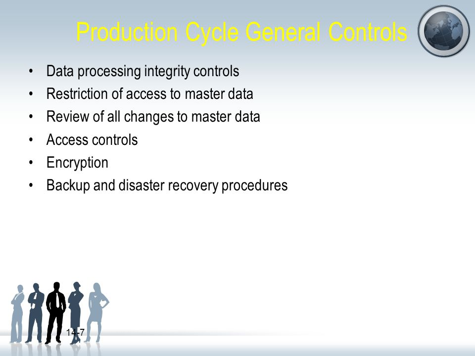 Production Cycle General Controls
