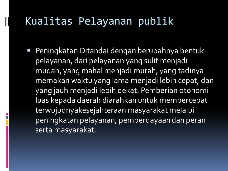 Kualitas Pelayanan publik