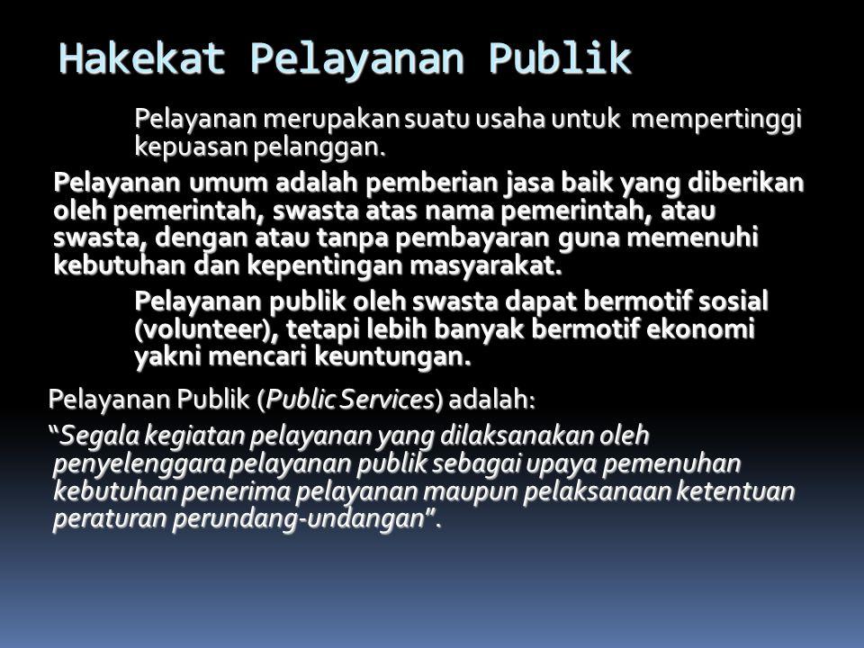 Hakekat Pelayanan Publik