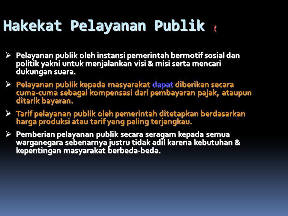 Hakekat Pelayanan Publik (