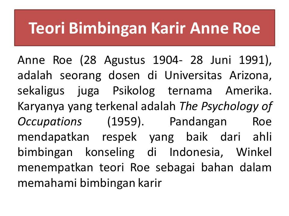 Teori Bimbingan Karir Anne Roe