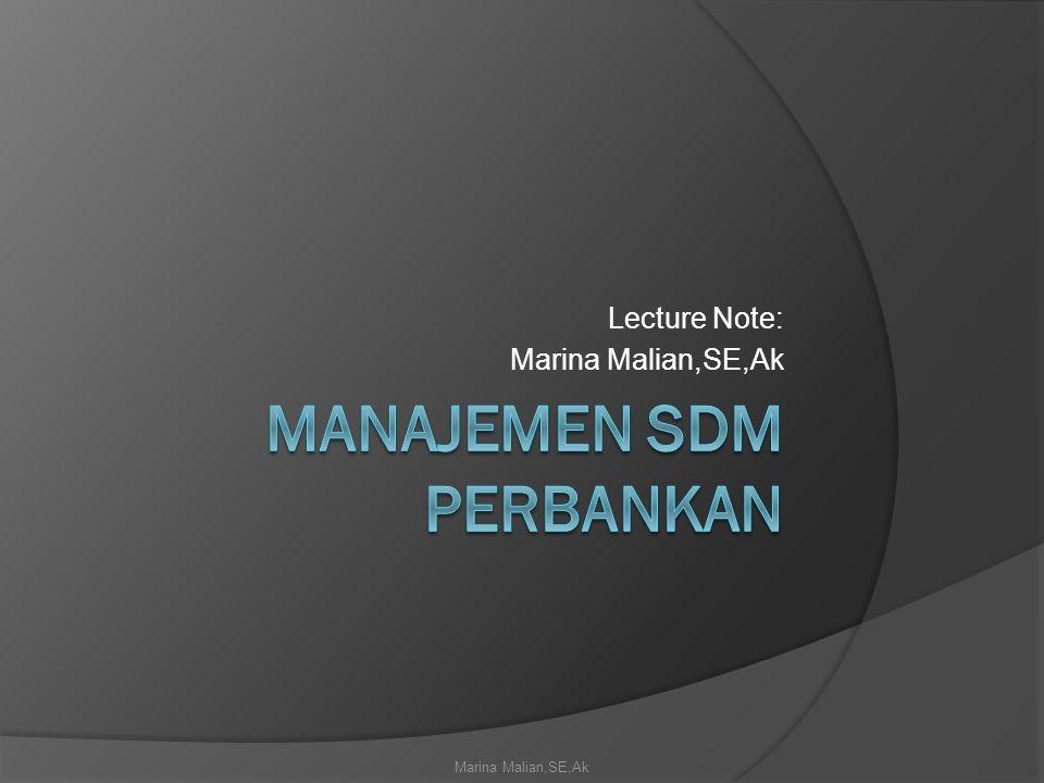 Manajemen SDM Perbankan