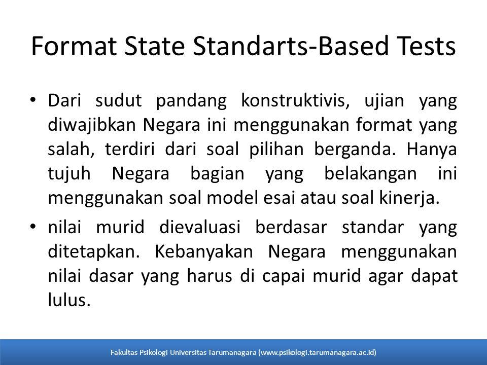 Format State Standarts-Based Tests