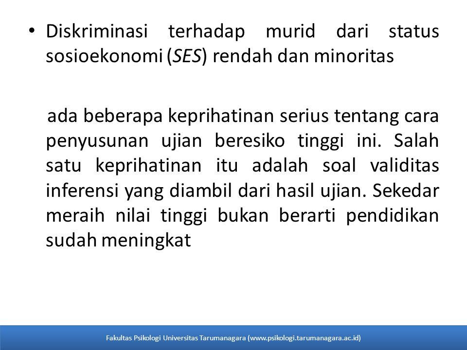 Diskriminasi terhadap murid dari status sosioekonomi (SES) rendah dan minoritas