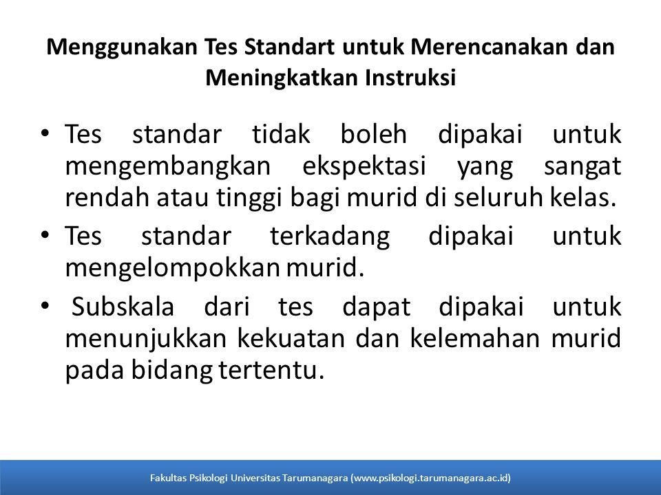 Menggunakan Tes Standart untuk Merencanakan dan Meningkatkan Instruksi