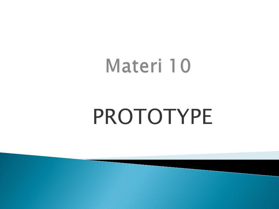 Materi 10 PROTOTYPE