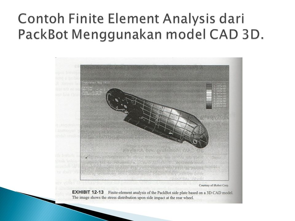 Contoh Finite Element Analysis dari PackBot Menggunakan model CAD 3D.