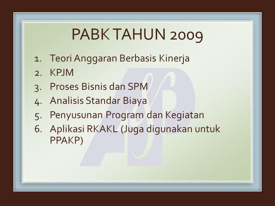 PABK TAHUN 2009 Teori Anggaran Berbasis Kinerja KPJM