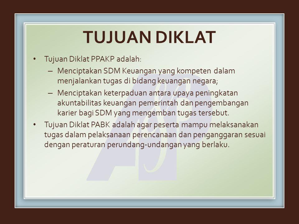 TUJUAN DIKLAT Tujuan Diklat PPAKP adalah: