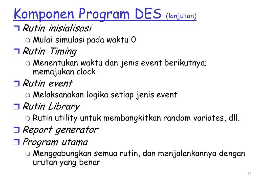 Komponen Program DES (lanjutan)