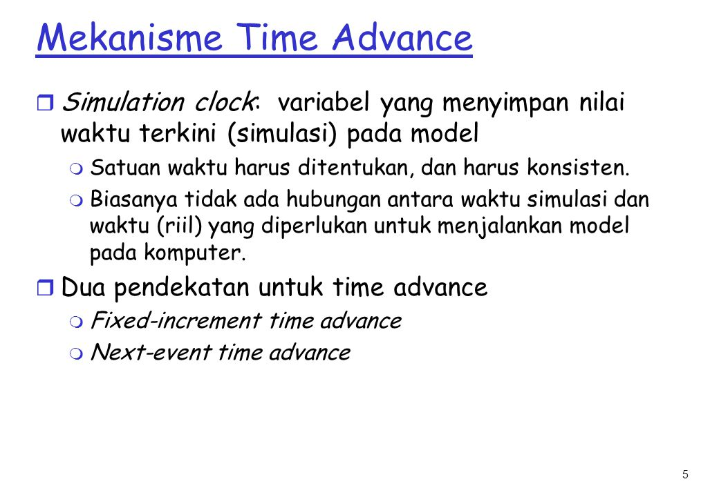 Mekanisme Time Advance