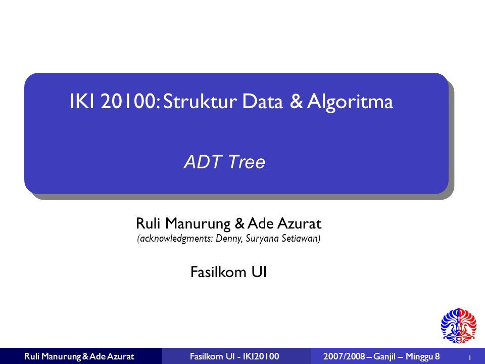 ADT Tree 2007/2008 – Ganjil – Minggu 8