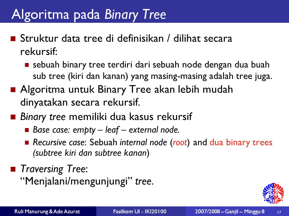 Algoritma pada Binary Tree