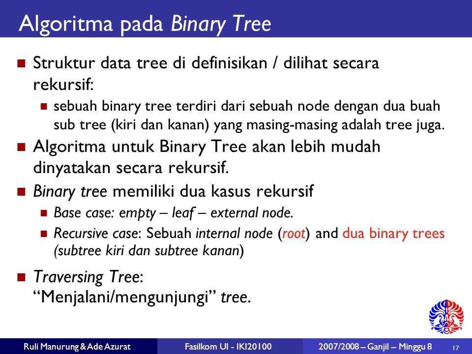 Algoritma pada Binary Tree
