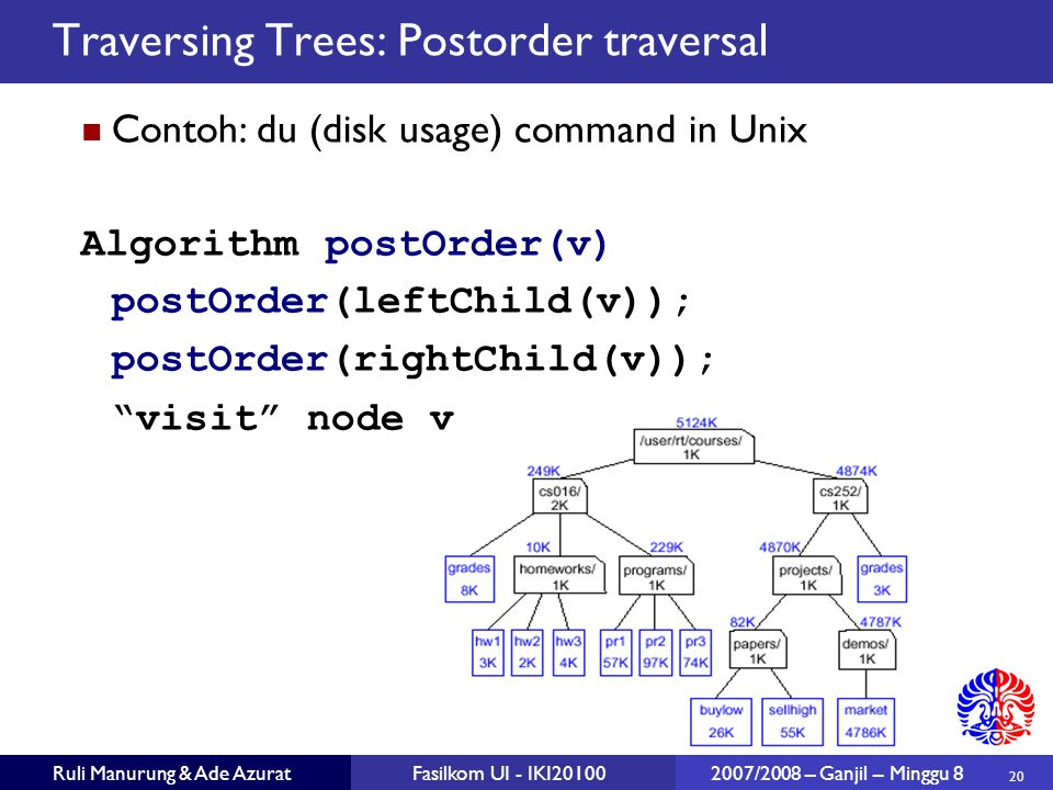 Traversing Trees: Postorder traversal