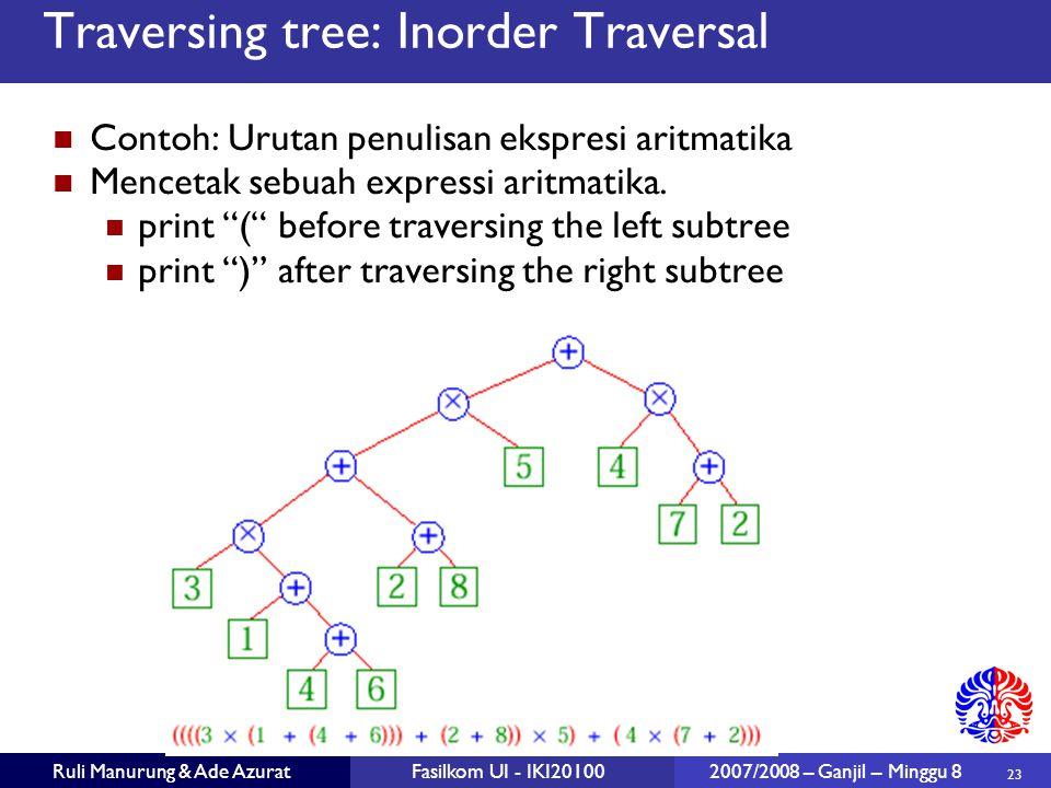Traversing tree: Inorder Traversal