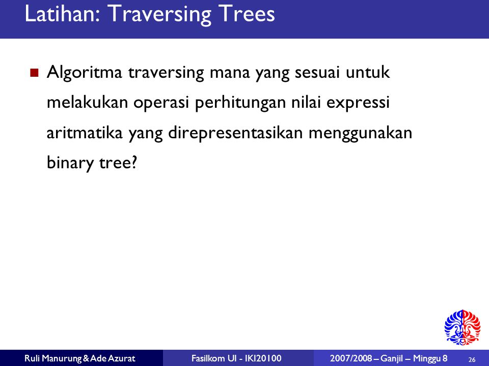 Latihan: Traversing Trees