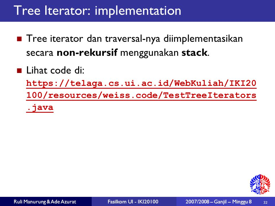 Tree Iterator: implementation