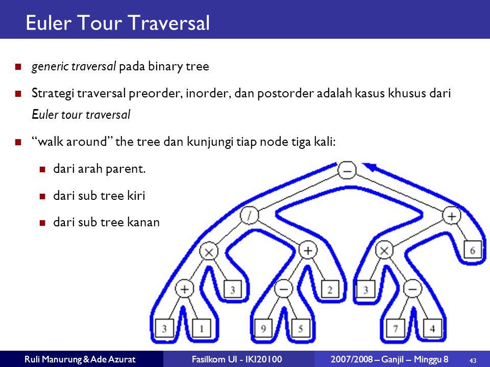 Euler Tour Traversal generic traversal pada binary tree