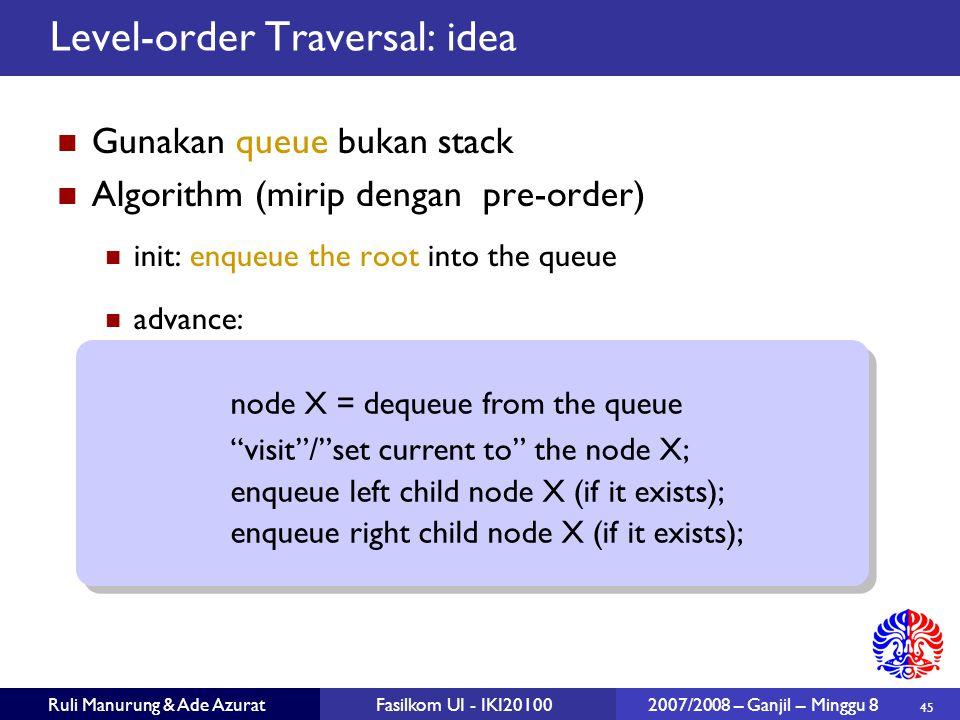 Level-order Traversal: idea