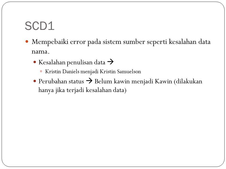 SCD1 Mempebaiki error pada sistem sumber seperti kesalahan data nama.