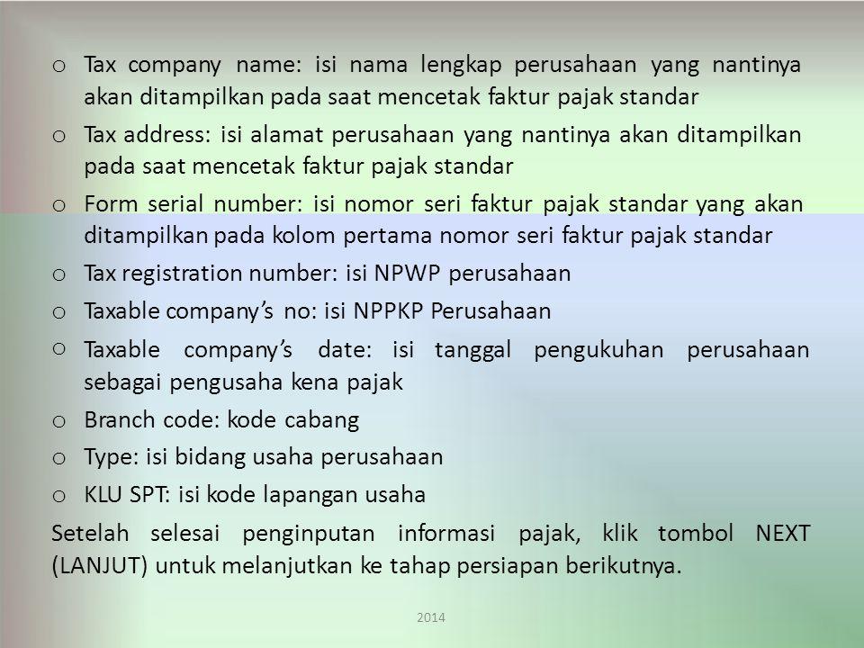 Tax company name: isi nama lengkap perusahaan yang nantinya
