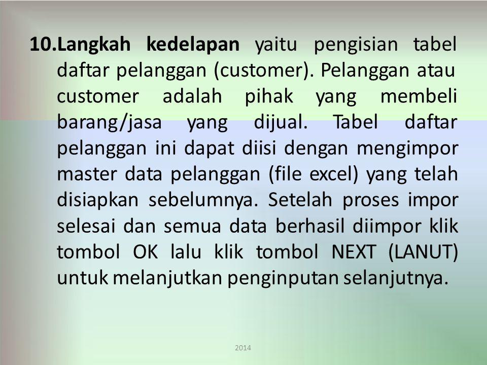 daftar pelanggan (customer). Pelanggan atau customer barang/jasa
