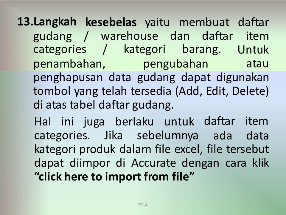 categories. Jika sebelumnya