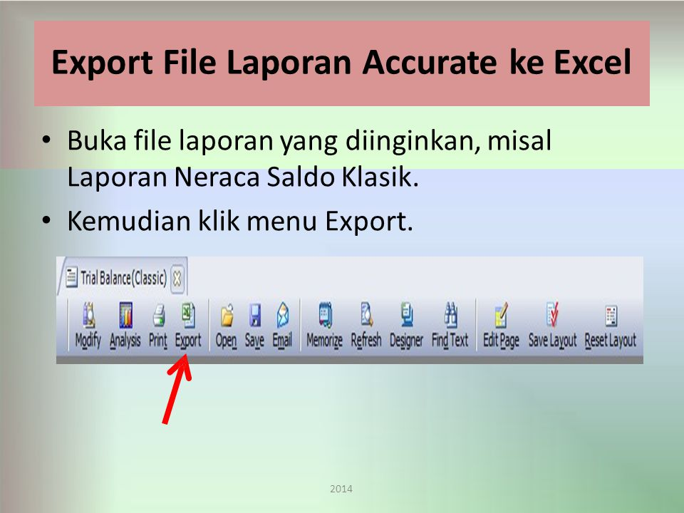 Export File Laporan Accurate ke Excel