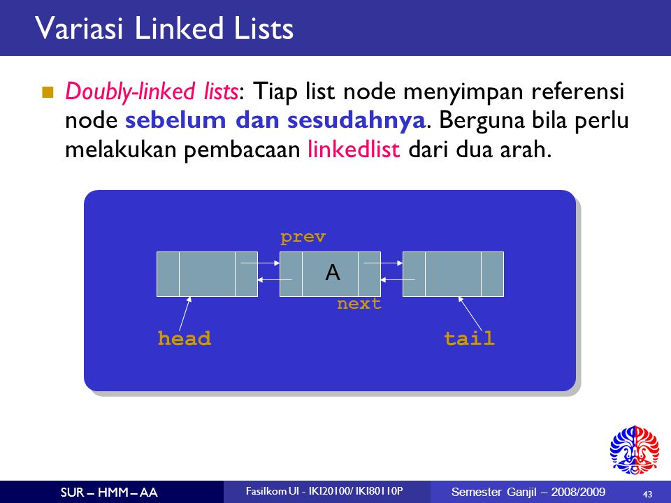 Variasi Linked Lists