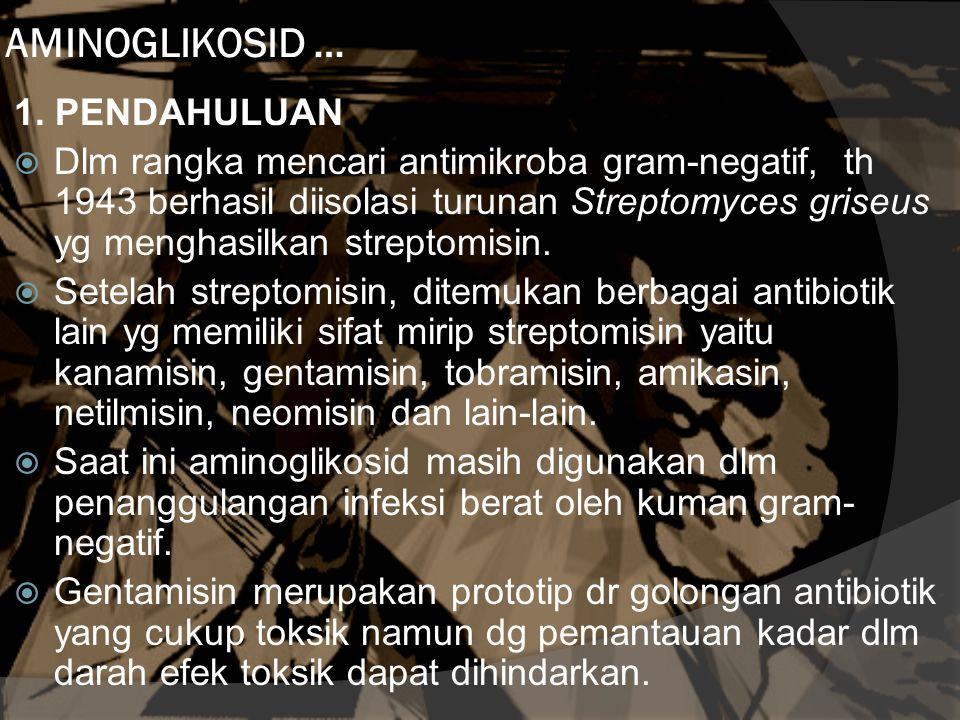 AMINOGLIKOSID … 1. PENDAHULUAN