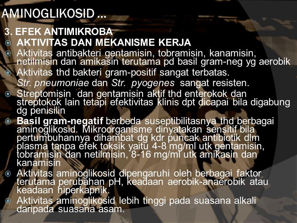AMINOGLIKOSID … 3. EFEK ANTIMIKROBA AKTIVITAS DAN MEKANISME KERJA