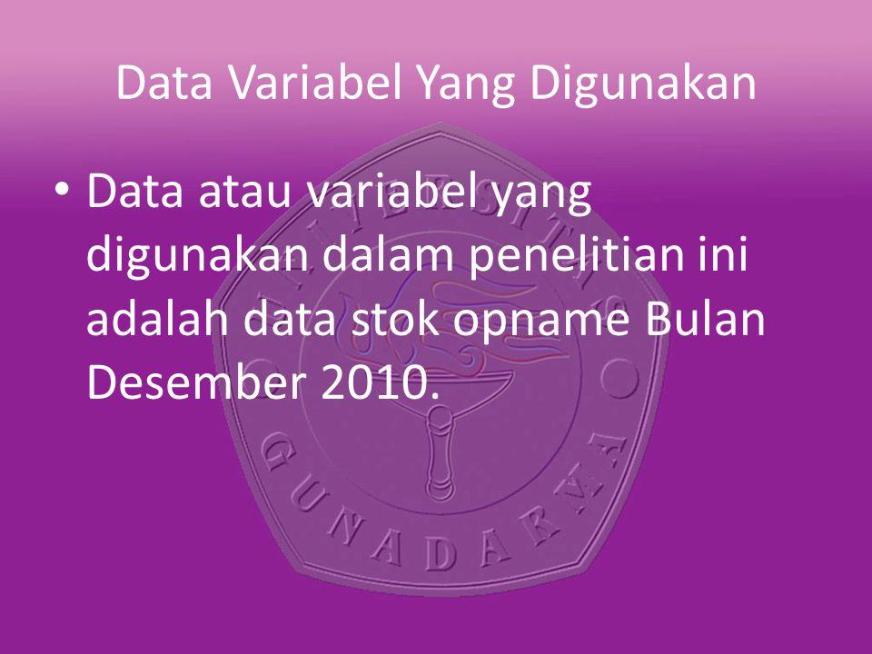 Data Variabel Yang Digunakan