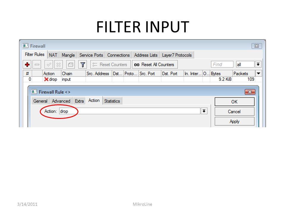 FILTER INPUT 3/14/2011 MikroLine