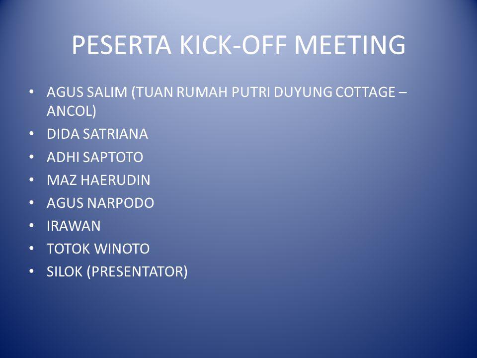 PESERTA KICK-OFF MEETING
