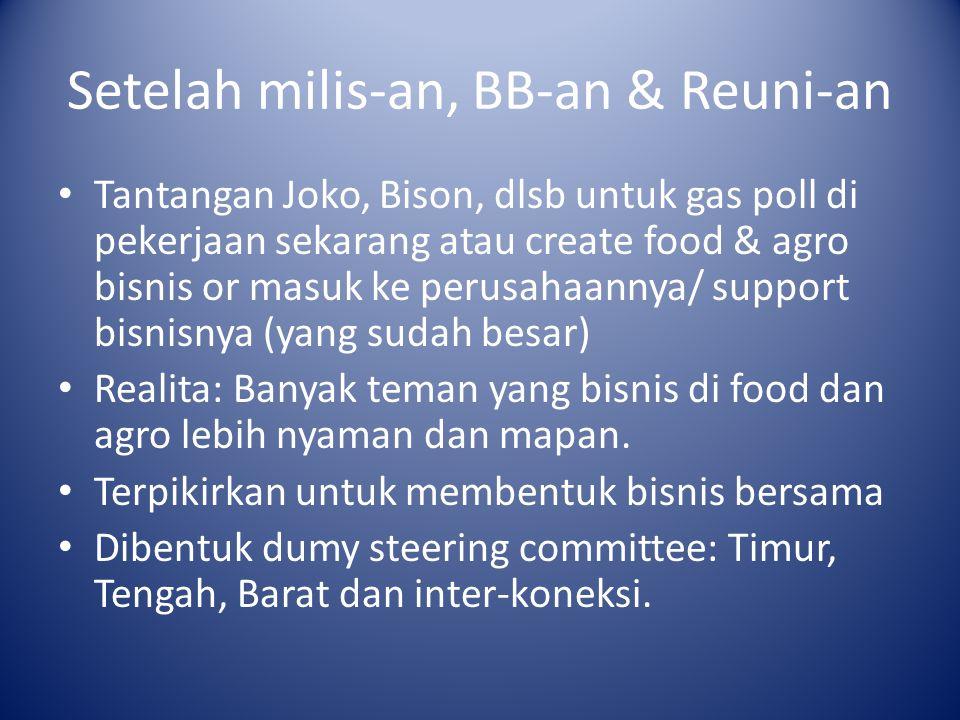 Setelah milis-an, BB-an & Reuni-an