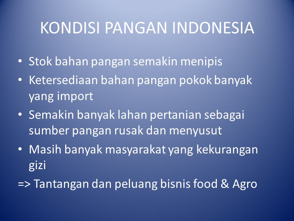 KONDISI PANGAN INDONESIA