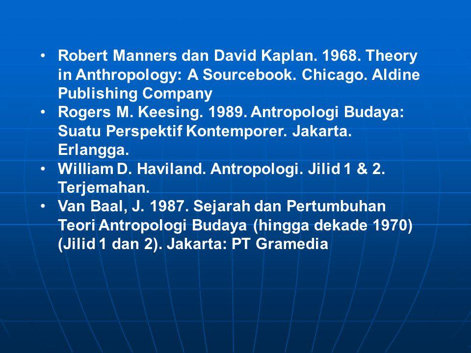 Robert Manners dan David Kaplan. 1968