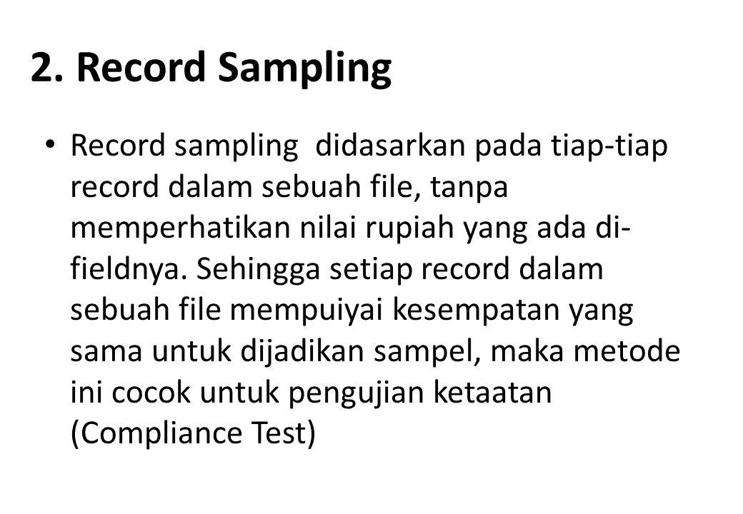 2. Record Sampling