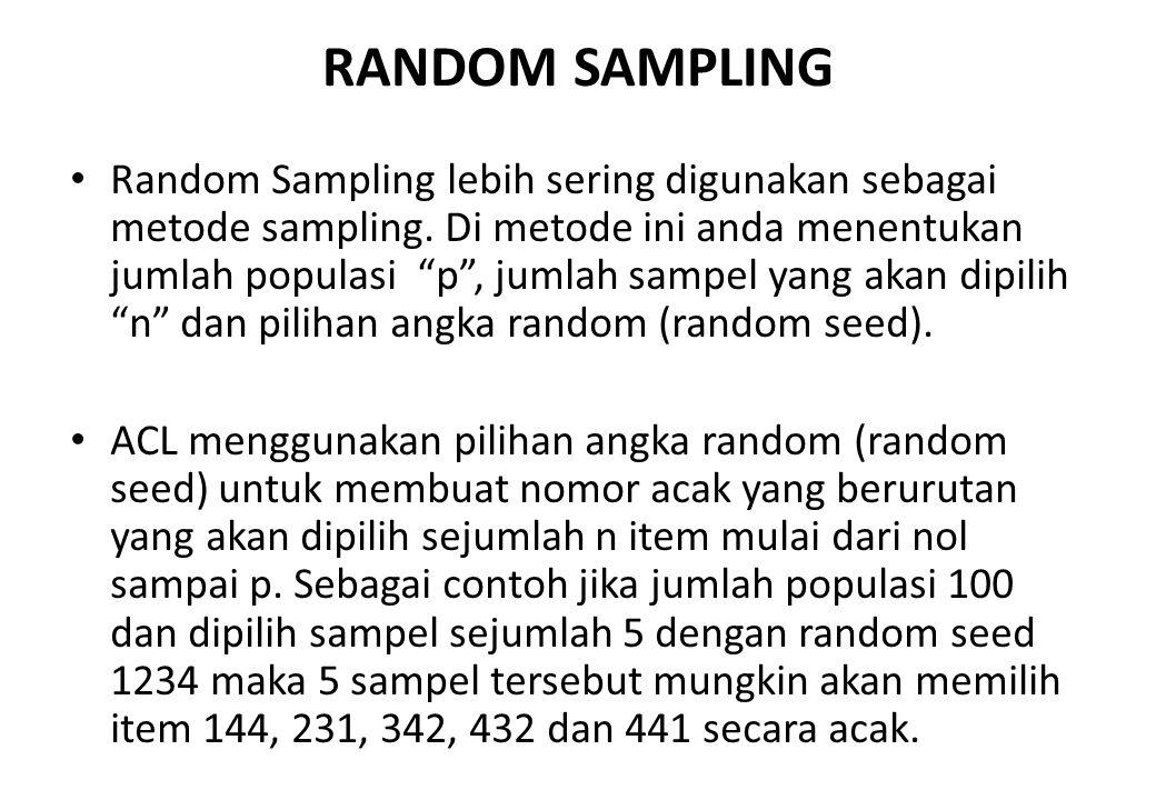 RANDOM SAMPLING